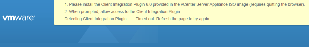 Please install the client integration plugin